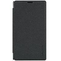 Чехол книжка Nillkin Sparkle Series для Microsoft Lumia 435 Dual Sim черный