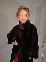 Шуба норковая с цельных пластин, оригинального кроя, цельнокроеный рукав. Модель 200201989, фото 1