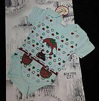Боди-футболка для новорожденных 3-18 мес