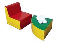 Мягкий игровой стул со столиком
