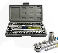 Набор инструментов 40 шт Универсальный комплект Портативный переносной Легкий вес Компактный Код: КГ8597