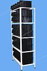 Стелаж метизний 2000х900х400мм (5полок), поличний стелаж для метизних ящиків, фото 2