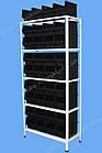 Стелаж метизний 2000х900х400мм (5полок), поличний стелаж для метизних ящиків, фото 3