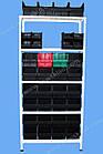 Стелаж метизний 2000х900х400мм (5полок), поличний стелаж для метизних ящиків, фото 6