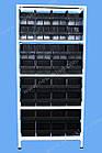 Стелаж метизний 2000х900х400мм (5полок), поличний стелаж для метизних ящиків, фото 4