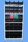 Стелаж метизний 2000х900х400мм (5полок), поличний стелаж для метизних ящиків, фото 5