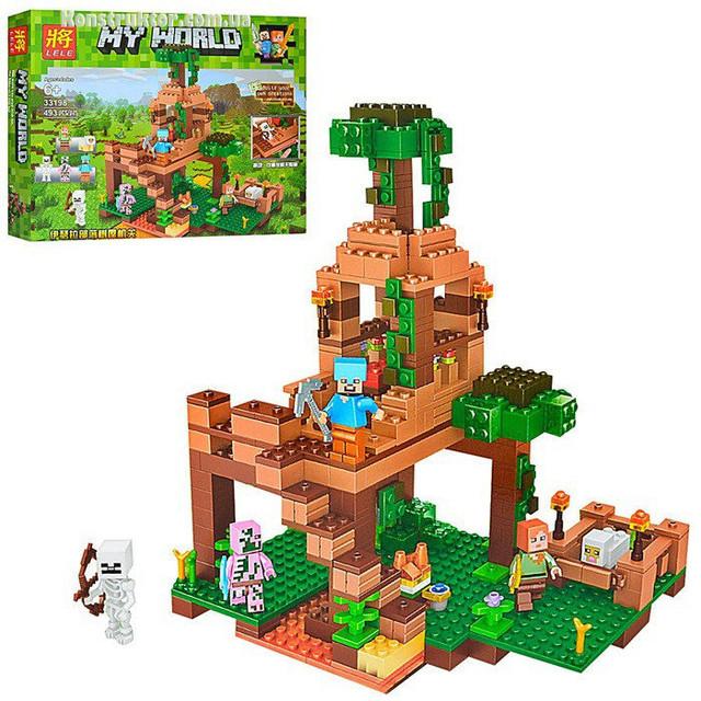 """Конструктор Lele 33198 """"Штаб в лесу"""" аналог Lego Minecraft купить"""