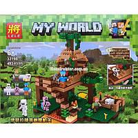 """Конструктор Lele 33198 """"Штаб в лесу"""" аналог Lego Minecraft, 493 детали., фото 1"""