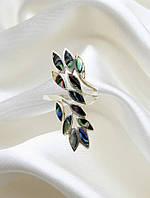 Кольцо серебряное с гелиотисом