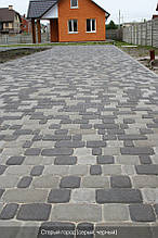 Тротуарная плитка Креатив серый 6см