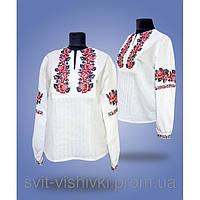 """Блуза вышитая женская """"Роза"""" 0-67"""