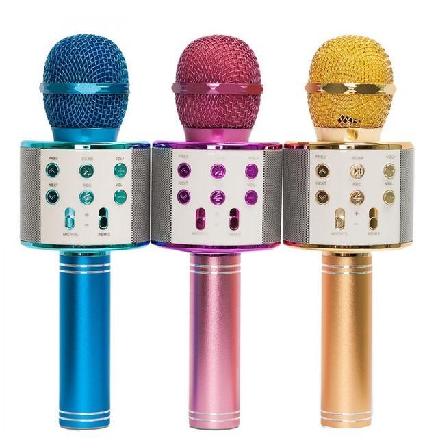 Беспроводной микрофон-караоке WSTER WS-858. 3 цвета на выбор