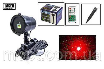Новогодний уличный лазерный проектор 3 цвета  X-Laser XX-LS-807 RGB с ДУ