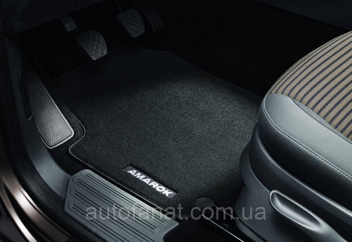Оригинальный комплект текстильных ковриков в салон Volkswagen Amarok (2H) с 2010 года (2H1061270WGK)