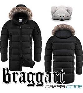 Мужская куртка зимняя длинная Braggart