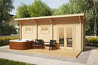 Дом деревянный из профилированного бруса 6х2