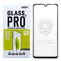 Защитное стекло Full Glue для Huawei P30 Lite клей по всей поверхности (Black)