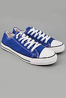 Кеды Converse All Star Низкие синие с белой подошвой (конверсы олл стар)