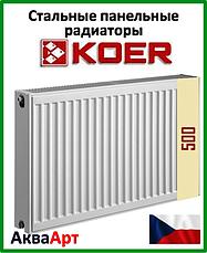 Стальные панельные радиаторы Koer боковое и нижнее подключение 22 тип h 500
