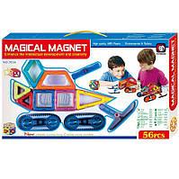 🔝 Детский магнитный конструктор с колесами Magical Magnet, 56 деталей | 🎁%🚚
