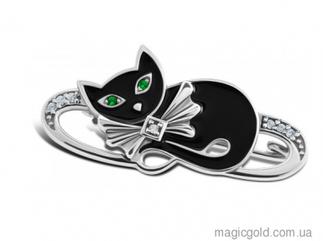 Серебряная брошка Кошка