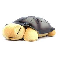 🔝 Черепаха ночник проектор со звуком Коричневая  20х29 см. Это звездное небо и светильник проектор | 🎁%🚚
