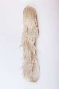 Ровный шиньон на крабе №6.цвет классический блонд