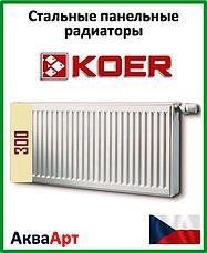 Стальные панельные радиаторы Koer боковое и нижнее подключение 22 тип h 300