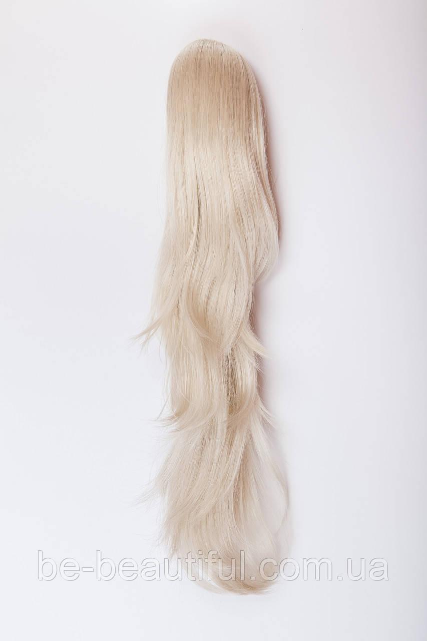 Волнистый шиньон на крабе №14.цвет классический блонд