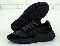 Мужские кроссовки Adidas Nite Jogger черные, фото 1