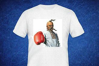 Футболка Козак белая боксер