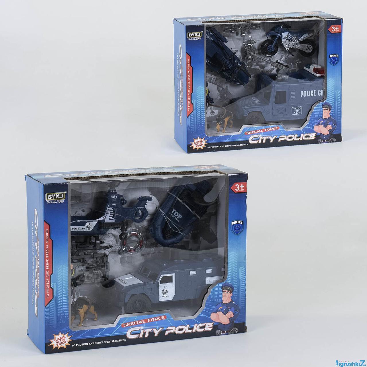 Полицейский набор с транспортом