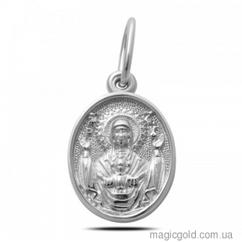 Ладанка серебряная Божья матерь с младенцем