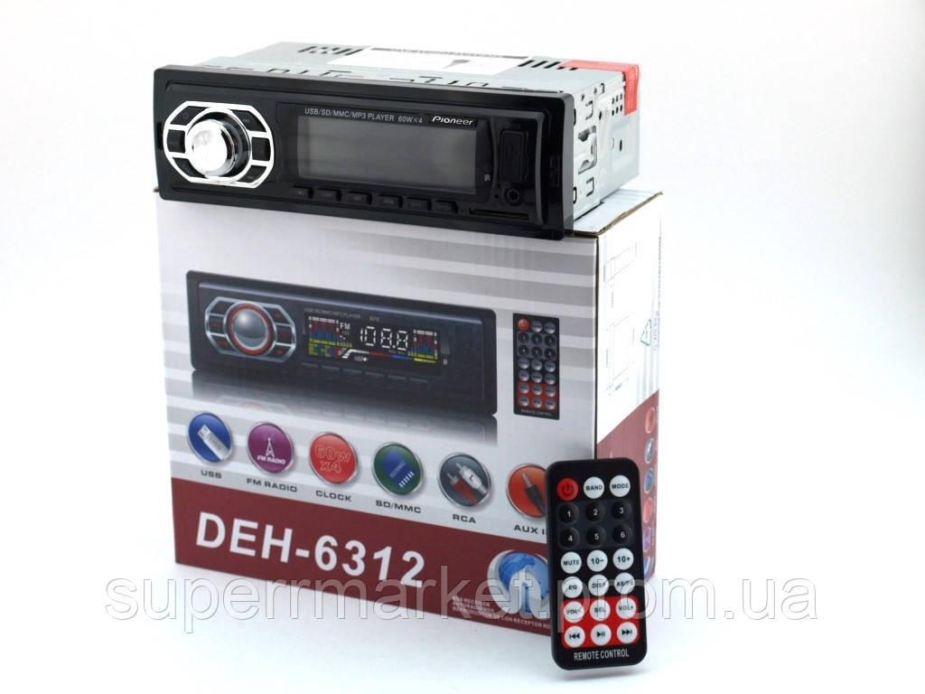 Автомагнитола Pioneer DEH-6312 копия, car MP3 100W  4*25W  с дистанционкой