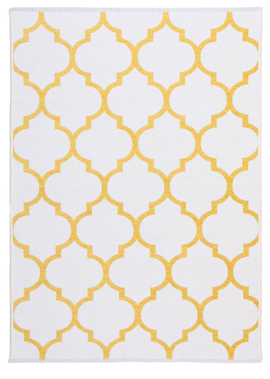 Ковер My Home Moretti Side двусторонний желтый пика