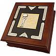 """Подарочный набор для алкоголя графин с рюмками в деревянной шкатулке """"Я мзду не беру, мне за державу обидно"""", фото 2"""