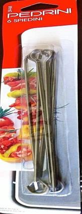Шампура малые 20 см 6 шт для кухни Pedrini (Италия), фото 2