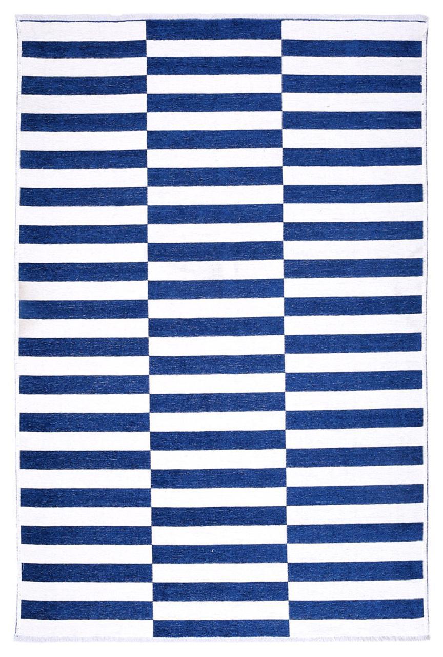 Ковер My Home Moretti Side двусторонний синий полоска