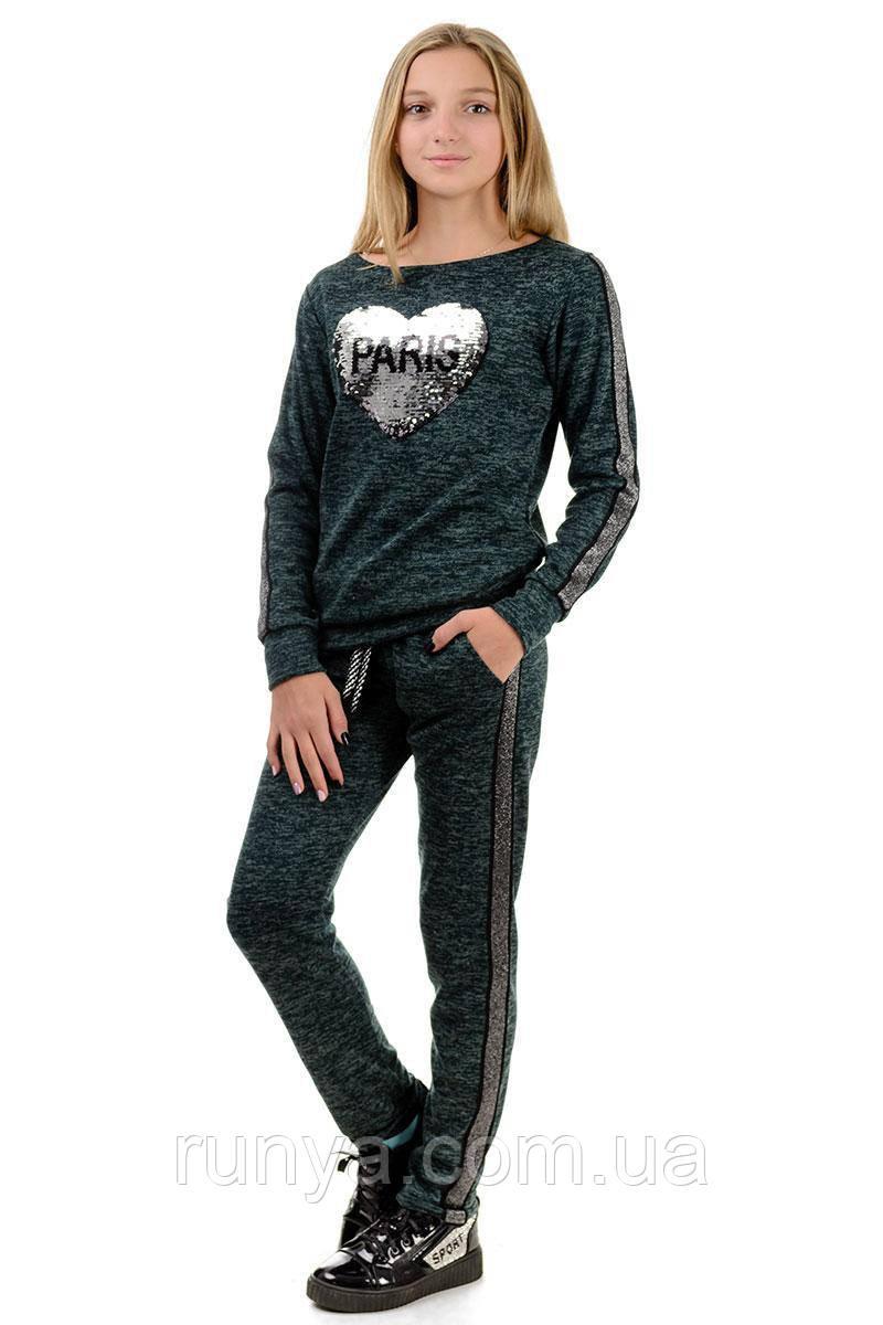 100c4aadfe22 Модный костюм с пайетками для девочки подростка Paris - Интернет-магазин  детской одежды