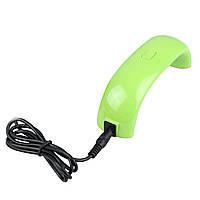 🔝 Ультрафиолетовая лампа для ногтей, Mini LED Nail Lamp, машинка для сушки гель лака - салатовая | 🎁%🚚