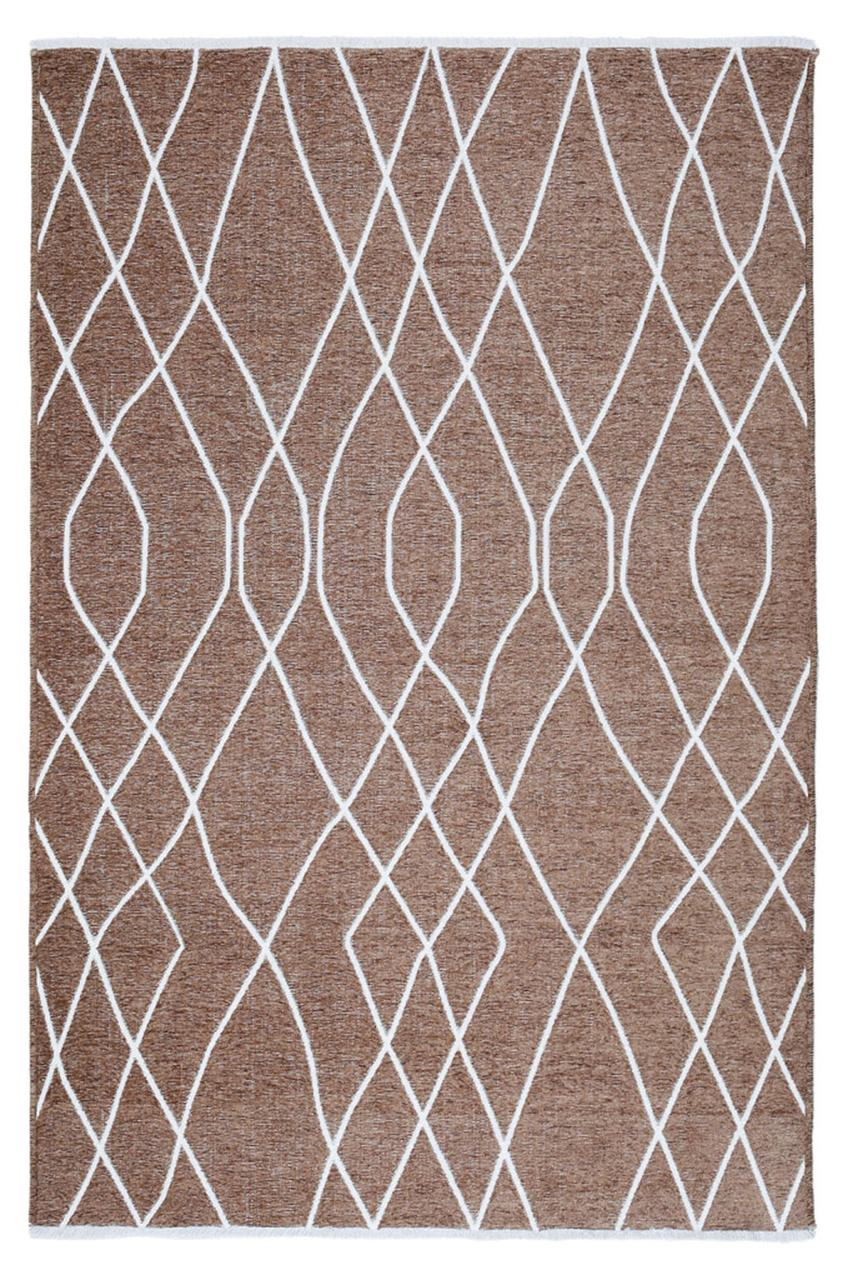 Ковер My Home Moretti Side двусторонний коричневый линии