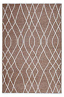 Ковер My Home Moretti Side двусторонний коричневый линии, фото 1