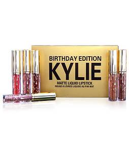 Набор стойких жидких матовых помад разных оттенков Kylie Jenner 6 шт | Кайли Дженнер (Реплика)