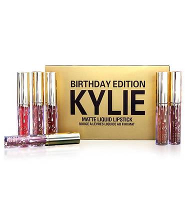 Набор стойких жидких матовых помад разных оттенков Kylie Jenner 6 шт   Кайли Дженнер (Реплика), фото 2