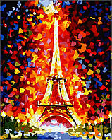 Картина по номерам  Эйфелева башня40 х 50 см(MS328)