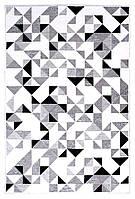 Ковер My Home Moretti Side двусторонний черно-белый, фото 1