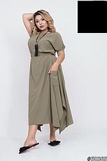 Платье женское,летнее,ассиметричное,миди, фото 3