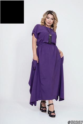 Платье женское,летнее,ассиметричное,миди, фото 2