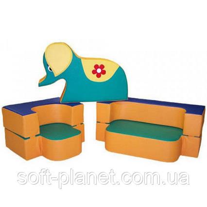 """Детский диван-трансформер с игрушкой """"Слоник"""""""