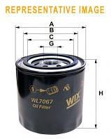 Фильтр масляный DAEWOO MATIZ, WIX FILTERS WL7085